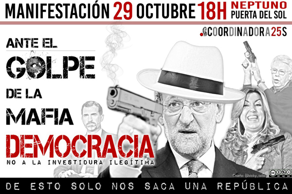 Cartel de la convocatoria 29O